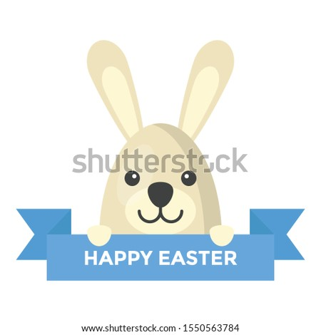 Bunny, flat design vector icon  #1550563784