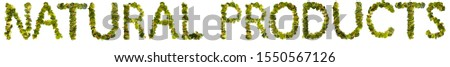 Natural products. Healthy lifestyle and nutrition. English alphabet. Text from the products. Broccoli, asparagus, carrots. Designer font. Vegetable Font. #1550567126