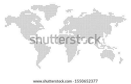 Dotted world map. Vector design illustration  Royalty-Free Stock Photo #1550652377