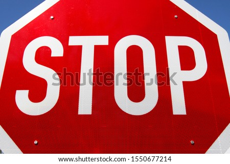 Traffic sign, red Stop sign, warning sign, traffic sign, Germany, Europe