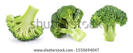 Broccoli isolated. Broccoli on white. Set of fresh broccoli. #1550694047