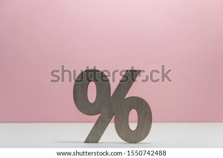 Percentage sign symbol icon on white background, copy space #1550742488