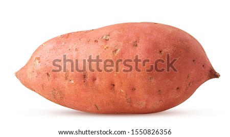 Sweet potato isolated on white background. Clipping Path. Full depth of field. Royalty-Free Stock Photo #1550826356