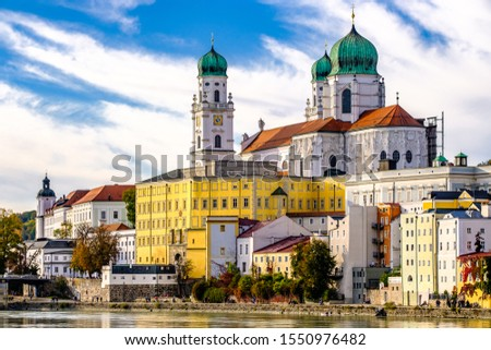 old town of the famous bavarian village passau #1550976482