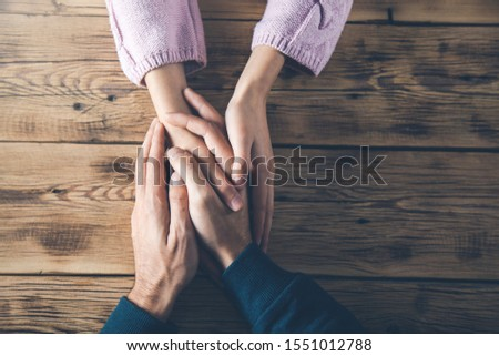 woman and man hands on desk #1551012788