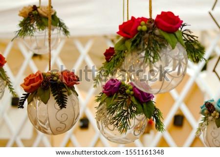 Christmas decoration: e group of crystal balls #1551161348