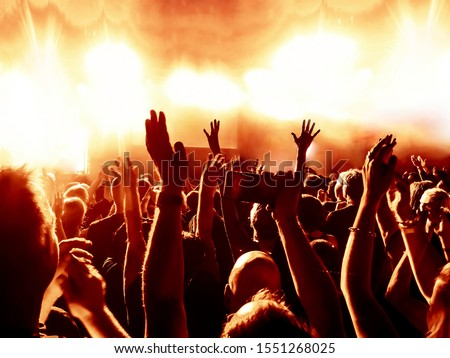 cheering crowd at rock concert #1551268025