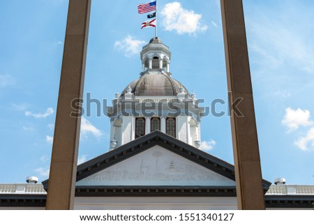 Florida State Capital Capital from between the pillars #1551340127