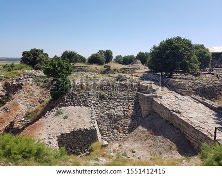 Ruins of ancient Troy in Turkey #1551412415