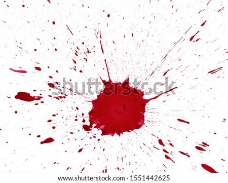 Blood Splatter Red Grunge Background #1551442625