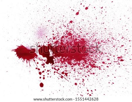Blood Splatter Red Grunge Background #1551442628
