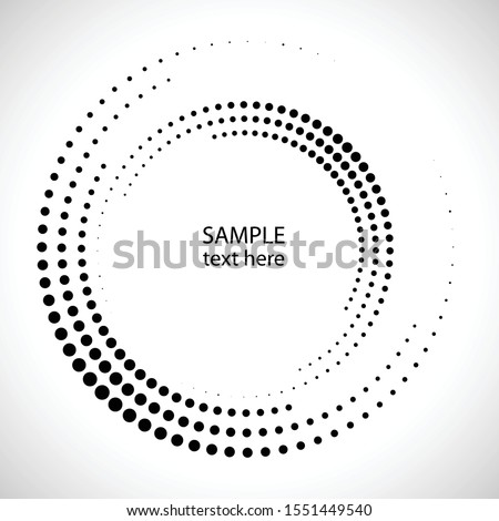 Halftone dots in circle form. round logo . vector dotted frame . design element Royalty-Free Stock Photo #1551449540