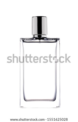 perfume bottle isolated on white background with clipping path and copy space for your text #1551625028