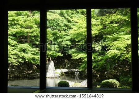Landscape of Rengeji of fresh green #1551644819