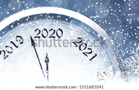 New Year's Eve 2020 with clock #1551681041