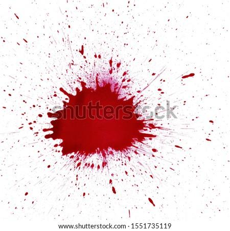 Blood Splatter Red Grunge Background #1551735119
