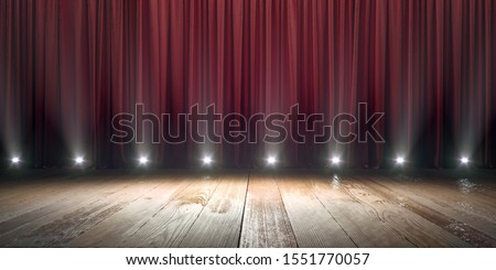 Stage with spotlight background concept. Royalty-Free Stock Photo #1551770057