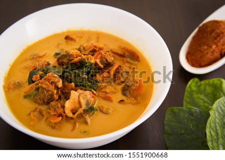 Gaeng Kua Hed Craeng. Thai food. Cockroaches are considered local mushrooms of the southern people. Mushroom meat is sweet and fragrant, often used to curry with coconut milk. #1551900668