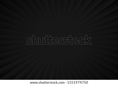 Simple gradient line on dark background resembling rays effect. Suitable for backdrop of promotional items like web banner, poster, flyer, brochure and business card. #1551974750