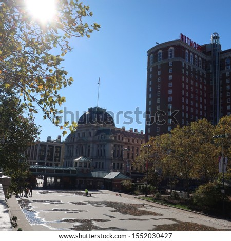 Fall trees and buildings in Providence #1552030427