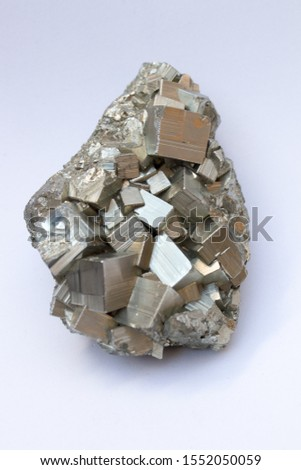 pyrite stone on white background #1552050059