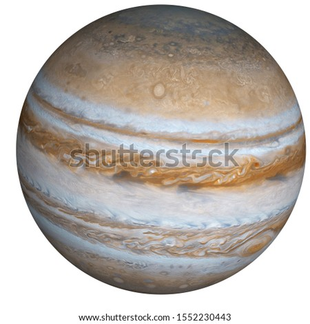 High detailed Planet Jupiter of solar system isolated. Elements of this image furnished by NASA.