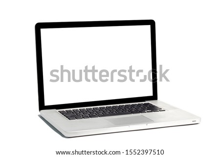 Isolated labtop on white background. #1552397510
