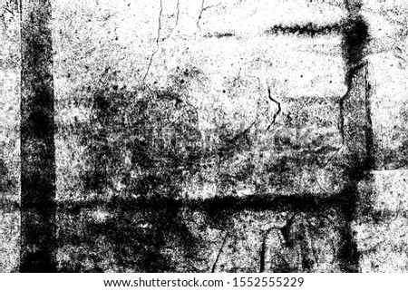 Grunge Black And White Urban Vector Texture Template. Dark Messy Dust Overlay Distress Background. Easy To Create Abstract Dotted, Scratched, Vintage Effect With Noise And Grain #1552555229