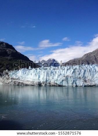 Glacier on a lake in Alaska #1552871576