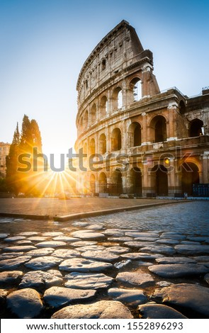 Sunrise at the Rome Colosseum, Italy #1552896293