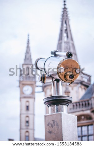 Telescope View Clock Tower in Ghent