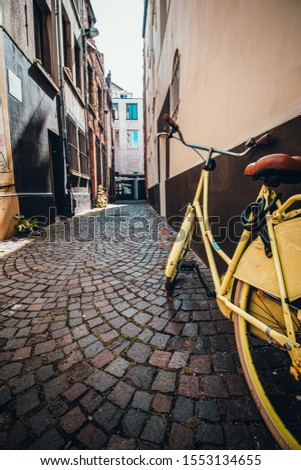 Vintage Bike in Antwerp Alleyway
