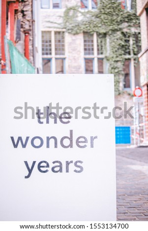 The Wonder Years Shop Sign