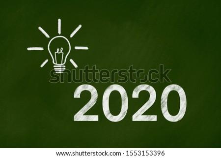 2020 goals vision background concept on green chalkboard  #1553153396