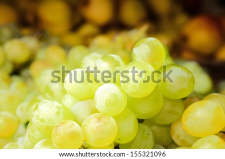 White wine grapes in the market  #155321096