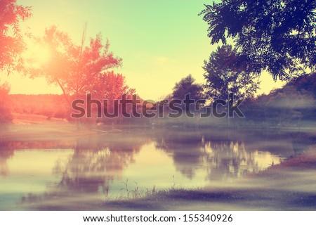 Vintage photo of autumn impression
