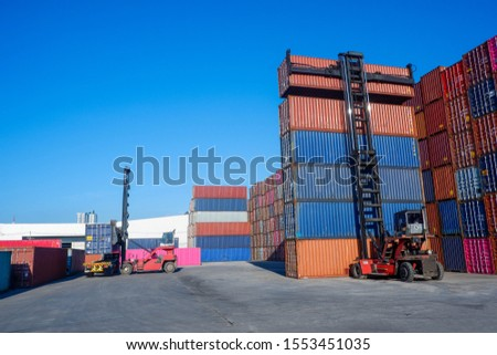 Container truck, container truck, container yard #1553451035
