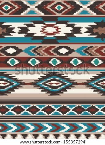 seamless ethnic  vector print pattern