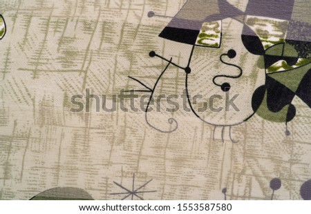 Background texture Universal georgette with a silk print, drawing cartoon people, your projects will be the best, creativity knows no bounds! dare to be the best #1553587580