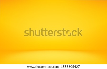 yellow background abstract with Gradient in empty room studio, Yellow empty room studio gradient used for background, yellow background studio with shine use for product shooting. Orange background. #1553605427