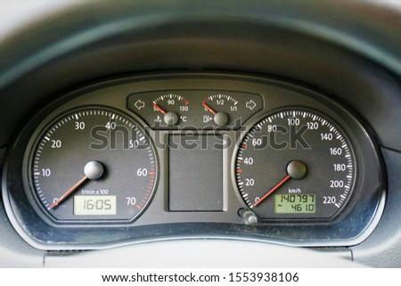 dashboard of a car dashboard #1553938106