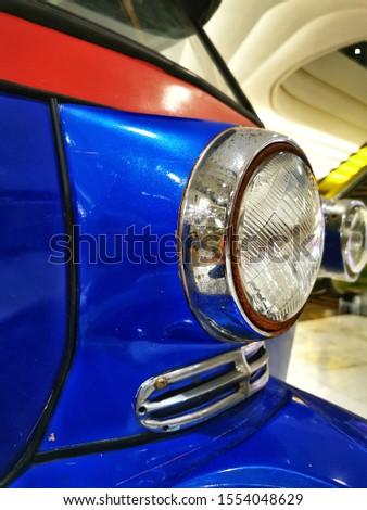 the headlight Auto Vehicles Motor tricycle or rickshaw in Bangkok Thailand #1554048629