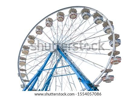 Ferris wheel isolated on white background Royalty-Free Stock Photo #1554057086