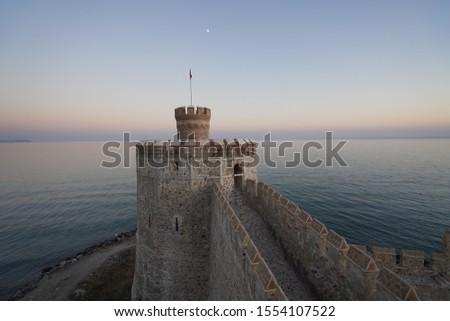 Mamure Castle on the coast of Mediterranean Sea Anamur, Mersin province, Turkey #1554107522