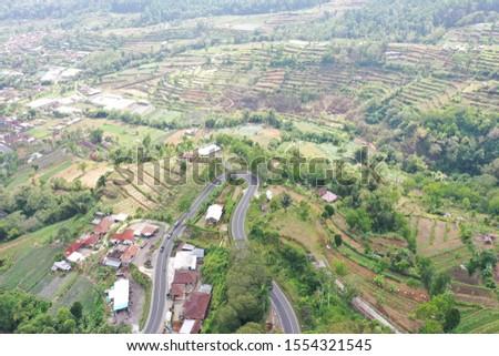 aerial photography ocean beach jungle rice fields #1554321545