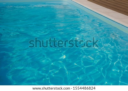 swimming pool with blue water, detail #1554486824