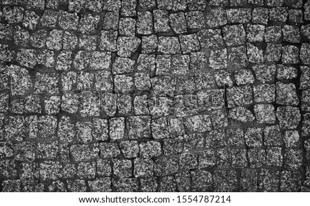 macro shot of the street bricks