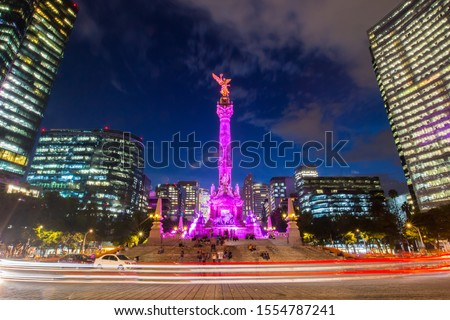 The Angel of Independence in Mexico City, Mexico. #1554787241