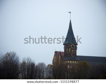 Exterior of the Cathedral on the island of Immanuel Kant. Kaliningrad, Russia #1555198877