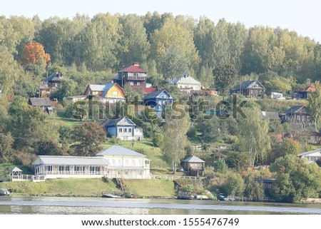 reach on the Volga autumn landscape / russia gold ring, russian province landscape #1555476749